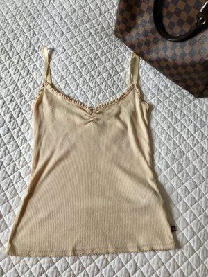 Lauren Jeans Co. Ralph Lauren Haut à fines bretelles beige clair