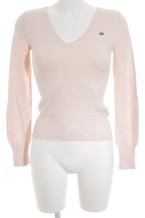 Ralph Lauren Polo Jeans V-Ausschnitt-Pullover rosé-kornblumenblau Casual-Look