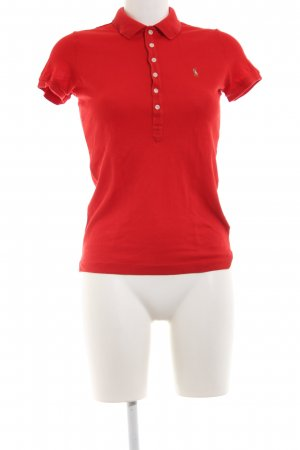 Ralph Lauren Polo Shirt red casual look
