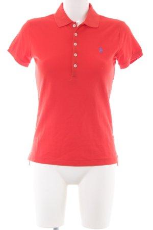 Ralph Lauren Polo-Shirt rot Motivdruck Casual-Look