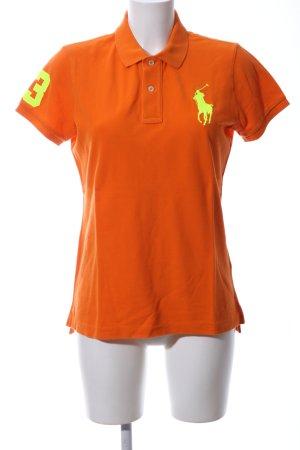 Ralph Lauren Polo-Shirt hellorange-blassgelb sportlicher Stil