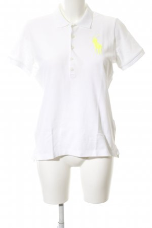 Ralph Lauren Camiseta tipo polo blanco estampado temático look casual