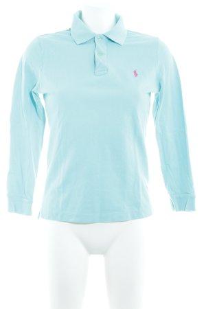 Ralph Lauren Polo-Shirt babyblau schlichter Stil