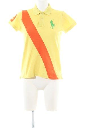 Ralph Lauren Polo-Shirt blassgelb Casual-Look