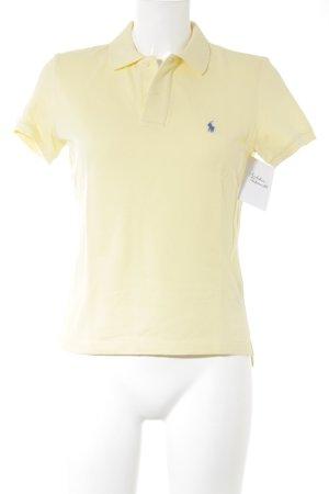 Ralph Lauren Polo-Shirt blassgelb sportlicher Stil