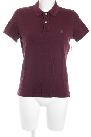 Ralph Lauren Polo-Shirt bordeauxrot Casual-Look