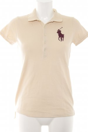 Ralph Lauren Polo-Shirt creme-bordeauxrot Casual-Look