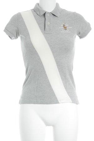 Ralph Lauren Polo-Shirt creme-grau meliert Casual-Look