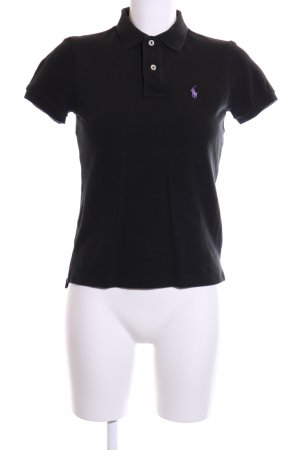 Ralph Lauren Polo-Shirt schwarz-lila Casual-Look