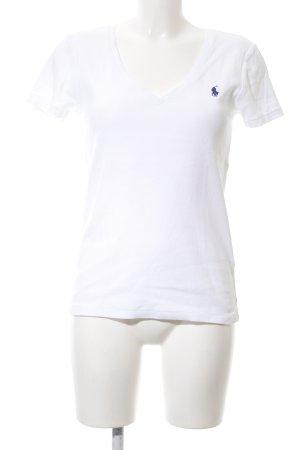 Ralph Lauren Polo shirt wit-blauw casual uitstraling
