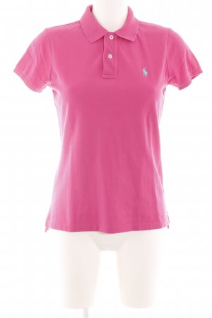 Ralph Lauren Camiseta tipo polo rosa look casual