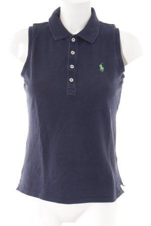 Ralph Lauren Polo-Shirt dunkelblau-grün Webmuster Casual-Look