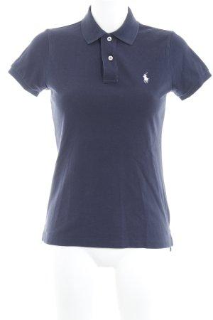 Ralph Lauren Polo-Shirt dunkelblau Reiter-Look