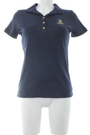 Ralph Lauren Polo-Shirt dunkelblau schlichter Stil