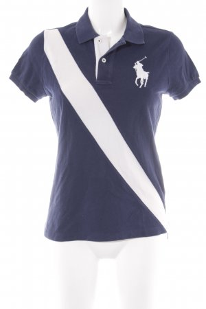Ralph Lauren Polo-Shirt dunkelblau-weiß Casual-Look