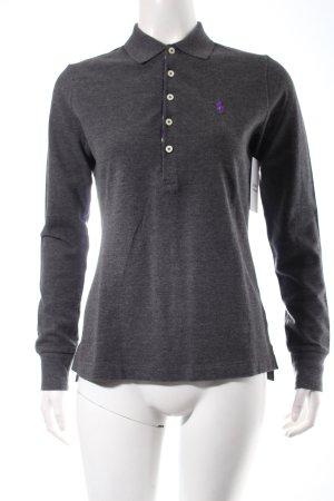 Ralph Lauren Polo-Shirt dunkelgrau-anthrazit klassischer Stil