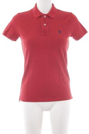 Ralph Lauren Polo-Shirt dunkelrot Casual-Look