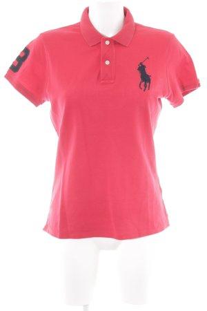 Ralph Lauren Polo-Shirt dunkelrot sportlicher Stil