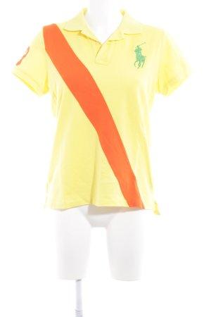 Ralph Lauren Polo-Shirt gelb-dunkelorange extravaganter Stil