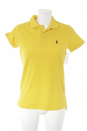 Ralph Lauren Polo Shirt yellow athletic style