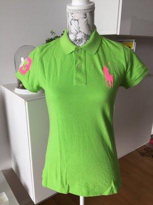 Ralph Lauren Polo Shirt Gr M grün pink neu