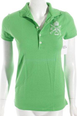 Ralph Lauren Polo-Shirt grün-weiß klassischer Stil