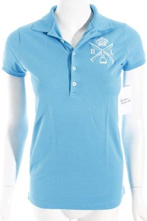 Ralph Lauren Polo-Shirt hellblau-weiß klassischer Stil
