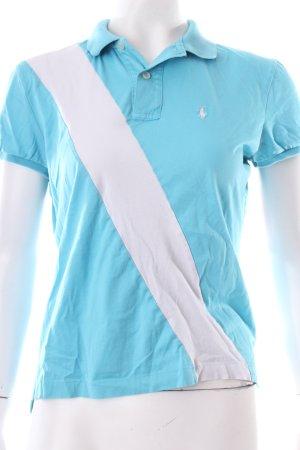 Ralph Lauren Polo-Shirt hellblau-weiß sportlicher Stil
