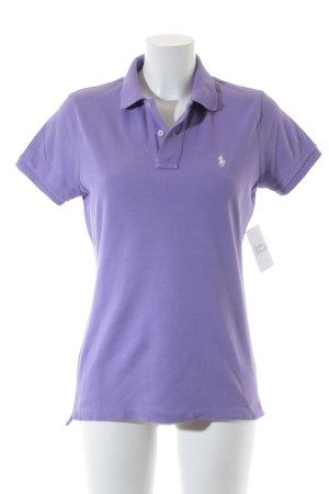 Ralph Lauren Polo-Shirt helllila-weiß sportlicher Stil