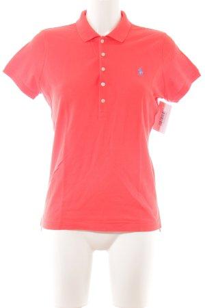 Ralph Lauren Polo shirt lichtrood-azuur casual uitstraling