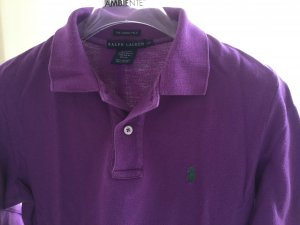 Ralph Lauren Polo Shirt in violett, langer Arm