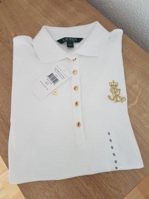 Ralph Lauren Polo Shirt Jenna weiß Gold NEU Größe S 36