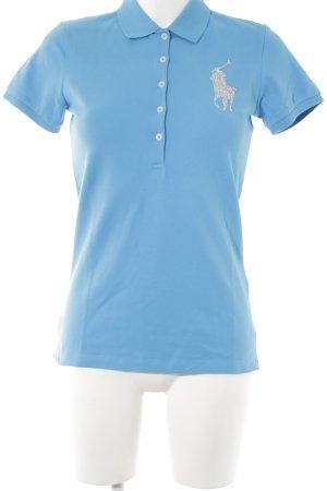 Ralph Lauren Polo blu fiordaliso stile atletico