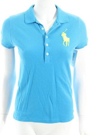 Ralph Lauren Polo-Shirt kornblumenblau sportlicher Stil