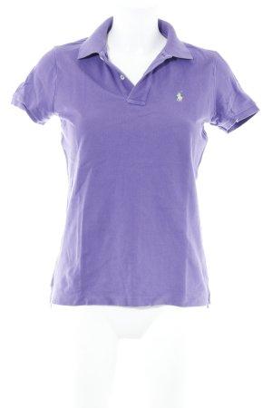 Ralph Lauren Polo Shirt lilac casual look
