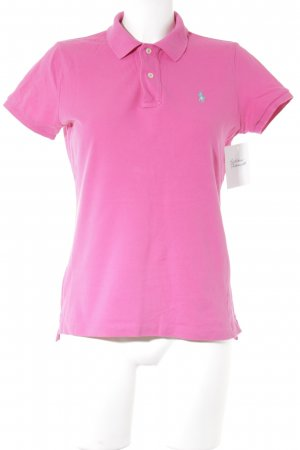 Ralph Lauren Polo Shirt magenta athletic style