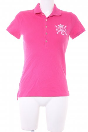 Ralph Lauren Polo-Shirt magenta-wollweiß Casual-Look