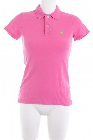 Ralph Lauren Polo Shirt neon pink-meadow green athletic style