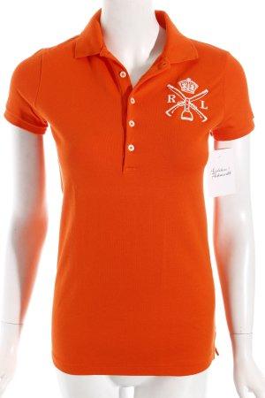 Ralph Lauren Polo-Shirt orange-weiß klassischer Stil