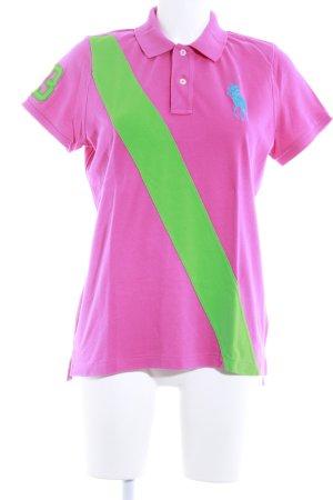 Ralph Lauren Polo-Shirt pink-grün Casual-Look