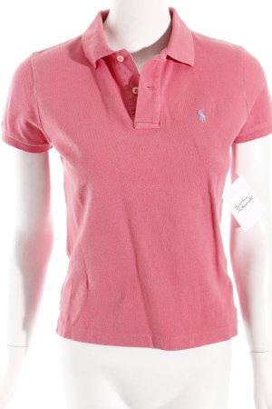 Ralph Lauren Polo-Shirt pink-hellblau klassischer Stil