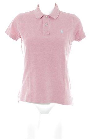 Ralph Lauren Polo-Shirt rosa-babyblau meliert Casual-Look