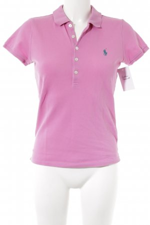 Ralph Lauren Polo-Shirt rosa-kadettblau Casual-Look