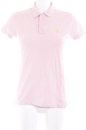 Ralph Lauren Polo-Shirt rosa-neongrün Logostickerei
