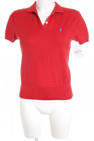 Ralph Lauren Polo-Shirt rot-blau Casual-Look
