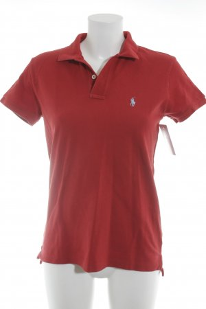 Ralph Lauren Polo-Shirt rot-himmelblau Casual-Look