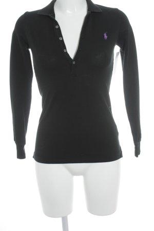 Ralph Lauren Polo-Shirt schwarz schlichter Stil