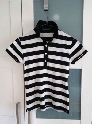 Ralph Lauren Polo Shirt schwarz weiß gestreift Gr. S (UVP 89,90 €)