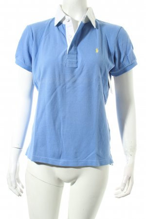 Ralph Lauren Polo-Shirt stahlblau klassischer Stil