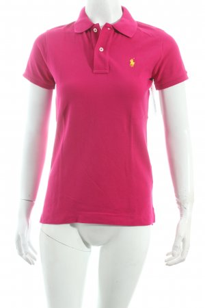 "Ralph Lauren Polo-Shirt ""The Skinny Polo"" magenta"